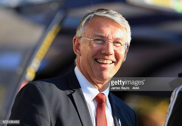 Nigel Adkins the head coach / manager of Sheffield United before the Sky Bet League One match between Shrewsbury Town and Sheffield United at New...