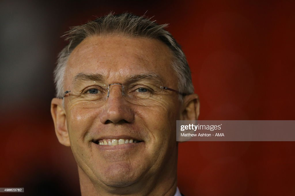 <a gi-track='captionPersonalityLinkClicked' href=/galleries/search?phrase=Nigel+Adkins&family=editorial&specificpeople=4015297 ng-click='$event.stopPropagation()'>Nigel Adkins</a> the head coach / manager of Sheffield United during the Sky Bet Football League One match between Sheffield United and Shrewsbury Town at Bramall Lane on November 24, 2015 in Sheffield, England.