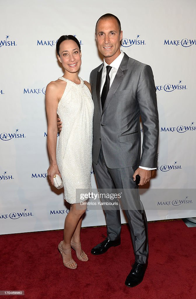 Nigel and Chrissy Barker attend 'An Evening of Wishes' MakeAWish Metro New York's 30th Anniversary Gala at Cipriani Wall Street on June 13 2013 in...