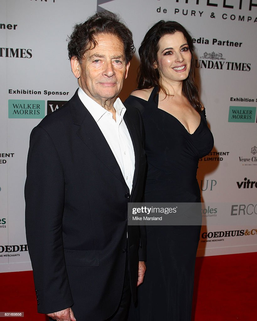 Nigel and Nigella Lawson arrive at the Saatchi Gallery Launch Party at the Saatchi Gallery Kings Rd in London on October 7, 2008 in London, England.