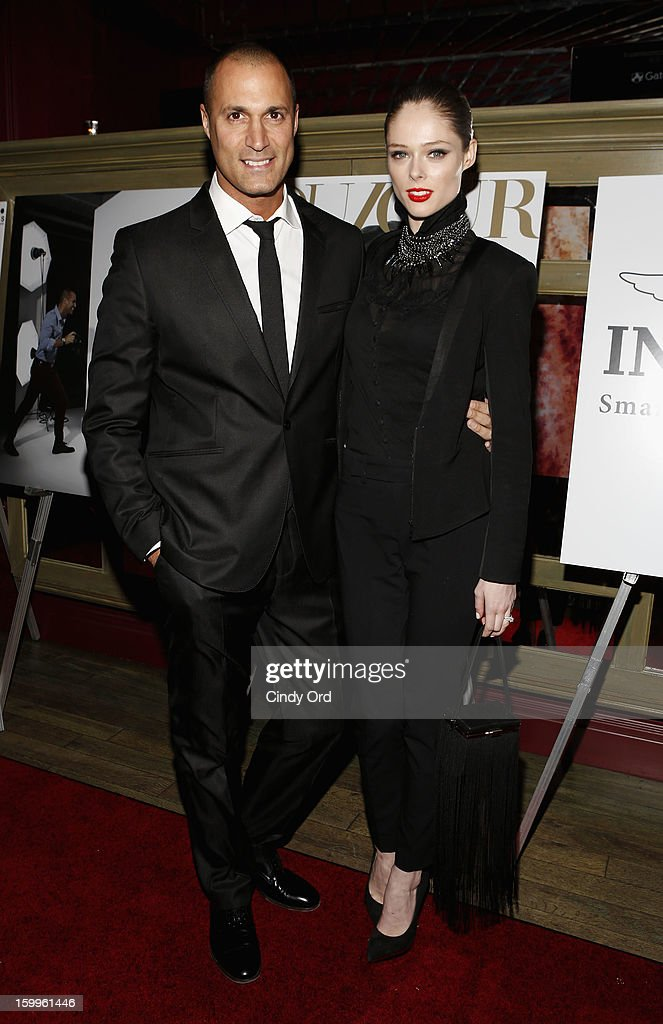 Nigel Barker and Coco Rocha attend DuJour Magazine Gala With Coco Rocha & Nigel Barker Presented by Invicta at Scott Sartiano and Richie Akiva's The Darbyon January 23, 2013 in New York City.