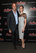 Nigel Barker and Cristen Barker attend The Cinema Society Audi screening of Marvel's 'Avengers Age of Ultron' on April 28 2015 in New York City