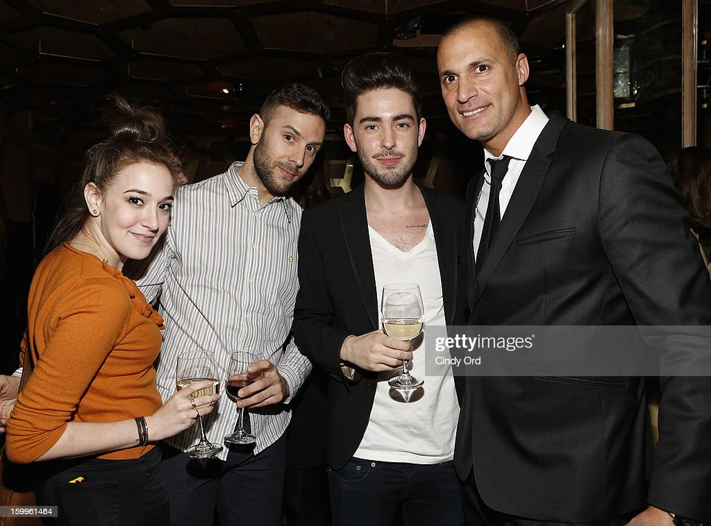 Nigel Barker (right) and guests attend DuJour Magazine Gala With Coco Rocha & Nigel Barker Presented by Invicta at Scott Sartiano and Richie Akiva's The Darbyon January 23, 2013 in New York City.