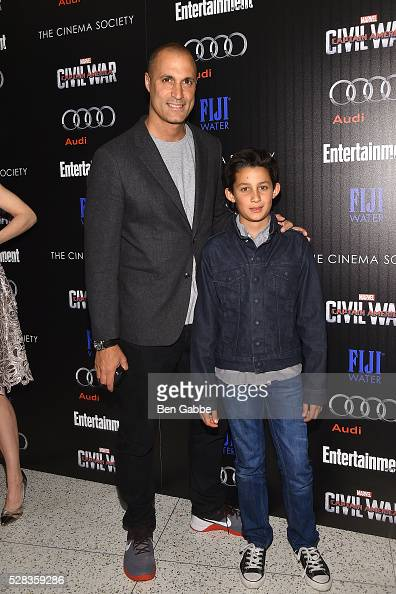 Nigel Barker and son Jack Barker attend a screening of Marvel's 'Captain America Civil War' hosted by The Cinema Society with Audi FIJI on May 04...