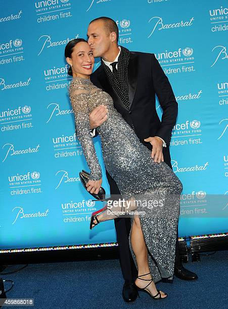 Nigel Barker and wife Cristen Barker attend the 10th Annual Unicef Snowflake Ball at Cipriani Wall Street on December 2 2014 in New York City