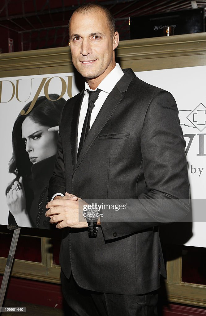 Nigel Barker attends DuJour Magazine Gala With Coco Rocha & Nigel Barker Presented by Invicta at Scott Sartiano and Richie Akiva's The Darbyon January 23, 2013 in New York City.