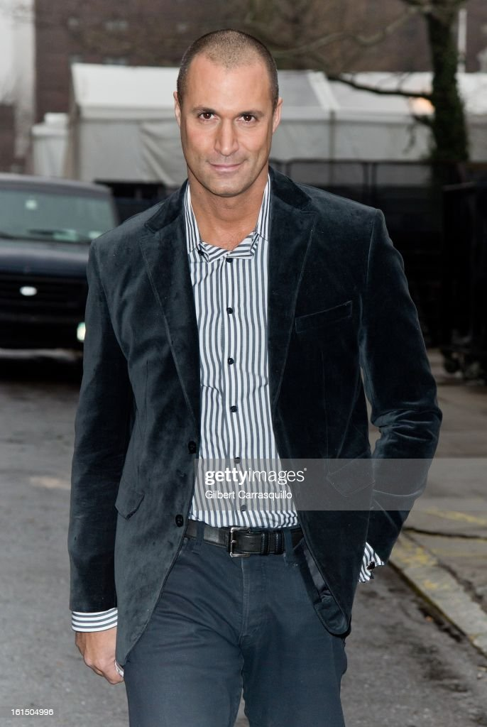 Nigel Barker attends Fall 2013 MercedesBenz Fashion Show at The Theater at Lincoln Center on February 11 2013 in New York City