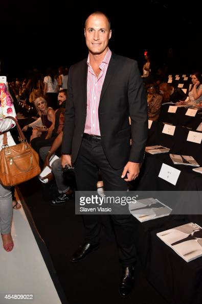 Nigel Barker attends the Academy Of Art University Spring 2015 Collections during MercedesBenz Fashion Week Spring 2015 at The Theatre at Lincoln...