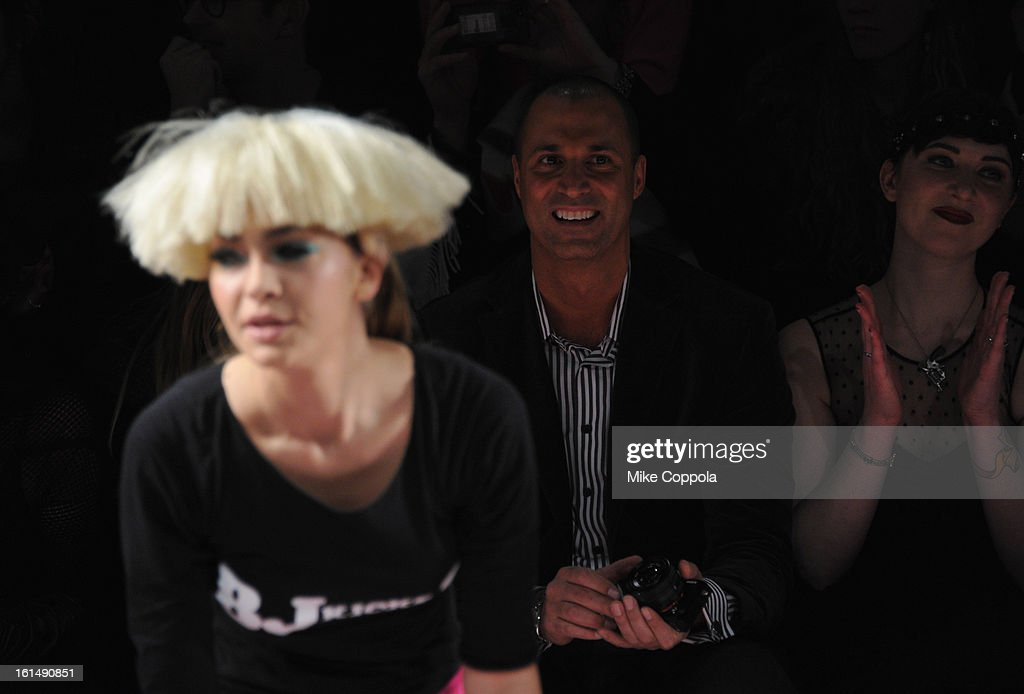 Nigel Barker attends the Betsey Johnson Fall 2013 fashion show during Mercedes-Benz Fashion Week at The Studio at Lincoln Center on February 11, 2013 in New York City.