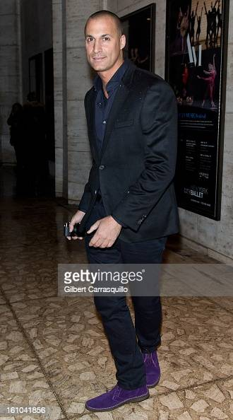 Nigel Barker attends the Fall 2013 MercedesBenz Fashion Show at The Theater at Lincoln Center on February 8 2013 in New York City
