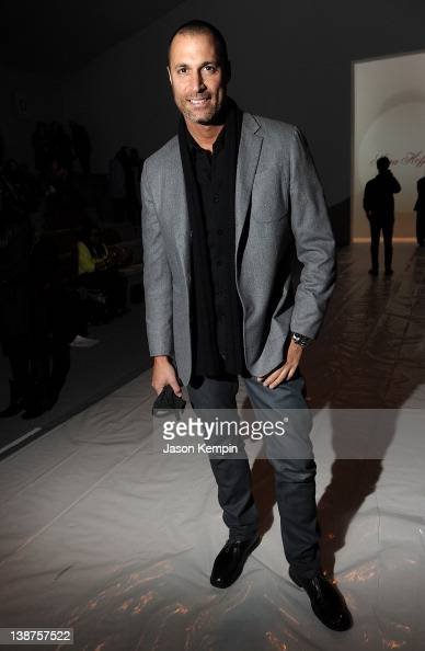 Nigel Barker attends the Mara Hoffman Fall 2012 fashion show during MercedesBenz Fashion Week at The Stage at Lincoln Center on February 11 2012 in...