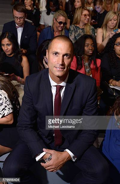 Nigel Barker attends the Mara Hoffman fashion show during MercedesBenz Fashion Week Spring 2014 at The Stage at Lincoln Center on September 7 2013 in...