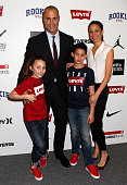 Nigel Barker Christen Barker and their children attend Nike/Levi's Kids Rock Runway Show on February 11 2016 in New York City