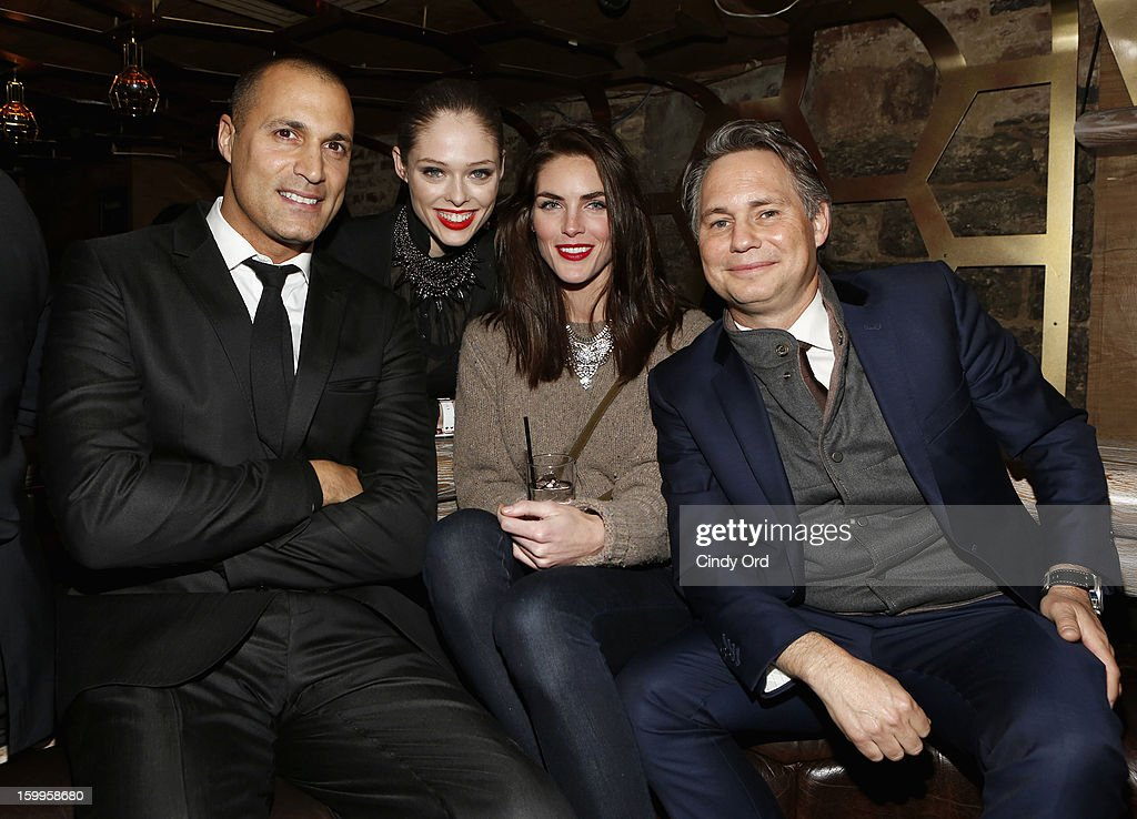 Nigel Barker, Coco Rocha, Hilary Rhoda, and Jason Binn attend DuJour Magazine Gala with Coco Rocha and Nigel Barker presented by TW Steel at Scott Sartiano and Richie Akiva's The Darby on January 23, 2013 in New York City.