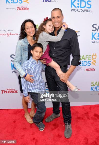 Nigel Barker Cristen Barker Jasmine Barker and Jake Barker attend Safe Kids Day New York City 2014 on April 12 2014 in New York City