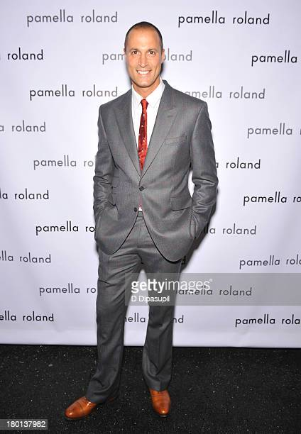 Nigel Barker poses backstage at the pamella roland Spring 2014 fashion show during MercedesBenz Fashion Week on September 9 2013 in New York City