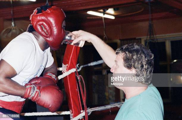 Nigel Benn training in the gym ahead of his next fight with American Greg Taylor 3rd March 1988