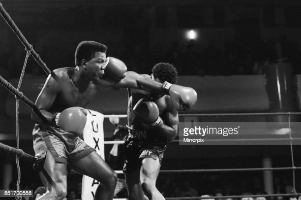 Nigel Benn vs Fermin Chirino at York Hall Bethnal Green London Benn stopped his opponent in the second round 27th January 1988