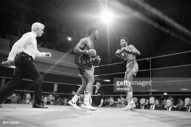 Nigel Benn vs Fermin Chirino at York Hall Bethnal Green London Benn stopped his opponent in the second round 27th January 1988
