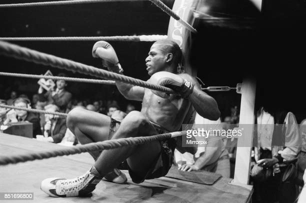 Nigel Benn vs Tim Williams at Royal Albert Hall London Benn stopped his opponent in the second round Tim Williams on the canvas 28th May 1988