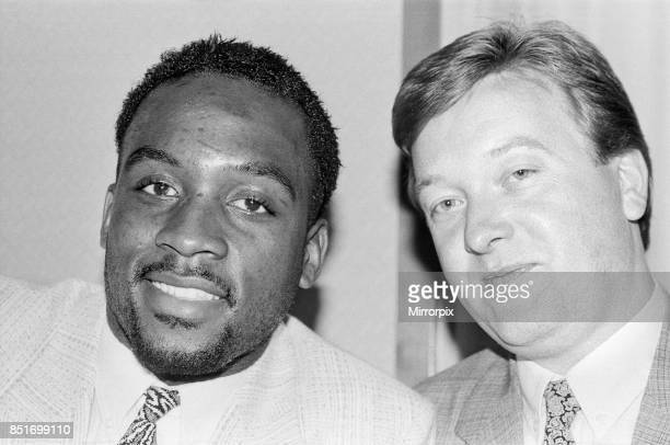 Nigel Benn with manager Frank Warren ahead of his next fight against American Tim Williams which will be held at the Royal Albert Hall London Benn...