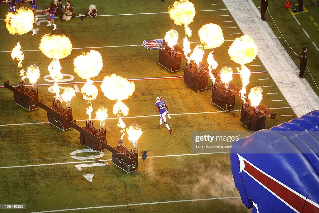 <a gi-track='captionPersonalityLinkClicked' href=/galleries/search?phrase=Nigel+Bradham&family=editorial&specificpeople=6579576 ng-click='$event.stopPropagation()'>Nigel Bradham</a> #53 of the Buffalo Bills is introduced before their NFL game against the Seattle Seahawks at Rogers Centre on December 16, 2012 in Toronto, Ontario, Canada.