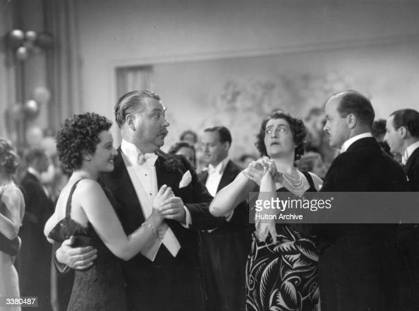 Nigel Bruce and Constance Collier as the Duke and Duchess of Glenavon in the film 'Thunder in the City' directed by Marion Gering and produced by...