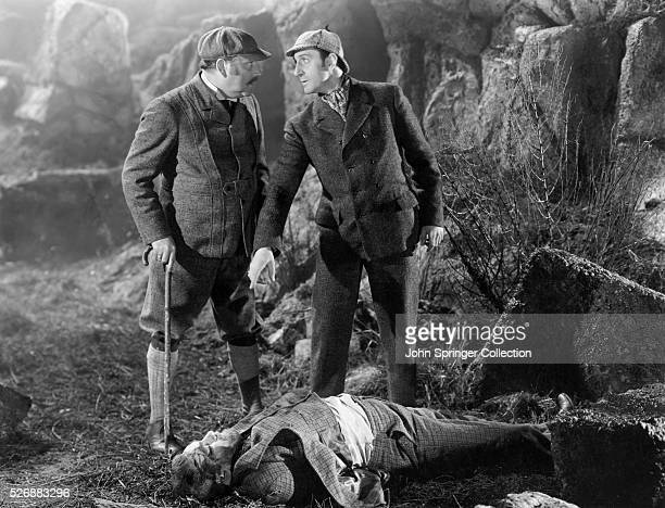 Nigel Bruce as Doctor Watson and Basil Rathbone as Sherlock Holmes in the 1939 version of Hound of the Baskervilles