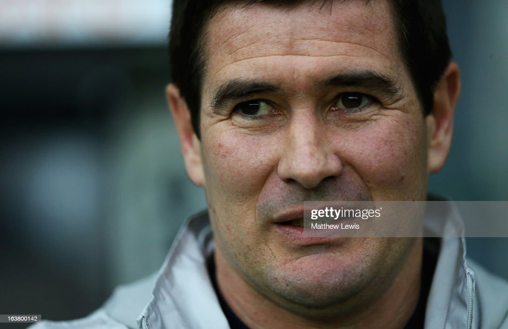 <a gi-track='captionPersonalityLinkClicked' href=/galleries/search?phrase=Nigel+Clough&family=editorial&specificpeople=901071 ng-click='$event.stopPropagation()'>Nigel Clough</a>, manager of Derby County looks on during the npower Championship match between Derby County and Leicester City at Pride Park Stadium on March 16, 2013 in Derby, England.