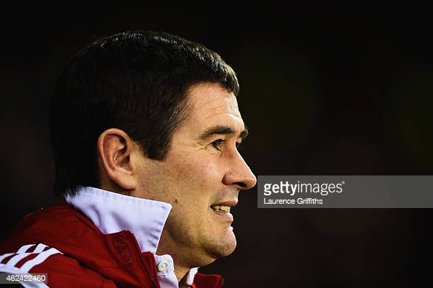 Nigel Clough manager of Sheffield United looks on during the Capital One Cup SemiFinal Second Leg match between Sheffield United and Tottenham...