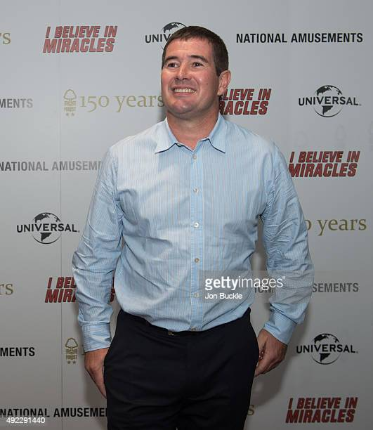 Nigel Clough poses for a photograph ahead of the screening of I Believe in Miracles at City Ground on October 11 2015 in Nottingham England