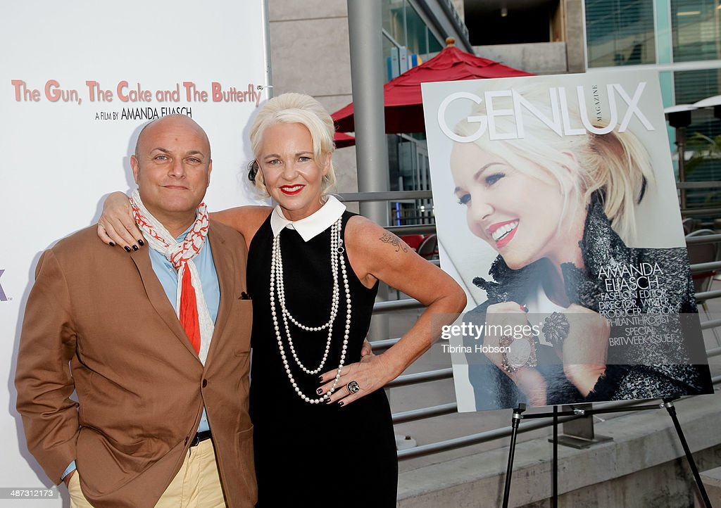 Nigel Daly and Amanda Eliasch attend the screening of 'The Gun The Cake And The Butterfly' at ArcLight Cinemas on April 28 2014 in Hollywood...