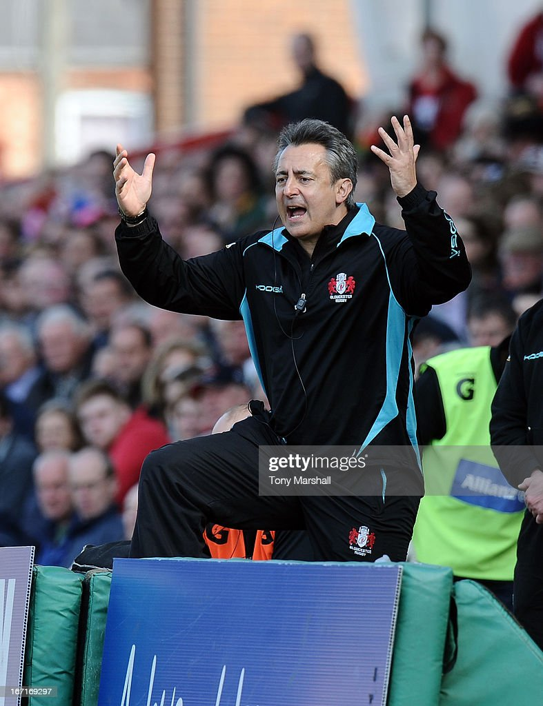 Nigel Davies, Director of Rugby of Gloucester during the Aviva Premiership match between Gloucester and Saracens at Kingsholm Stadium on April 20, 2013 in Gloucester, England.