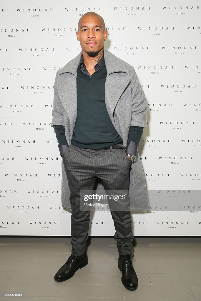 Nigel de Jong attends the Winonah cocktail party during the Milan Fashion Week Spring/Summer 2016 on September 25 2015 in Milan Italy