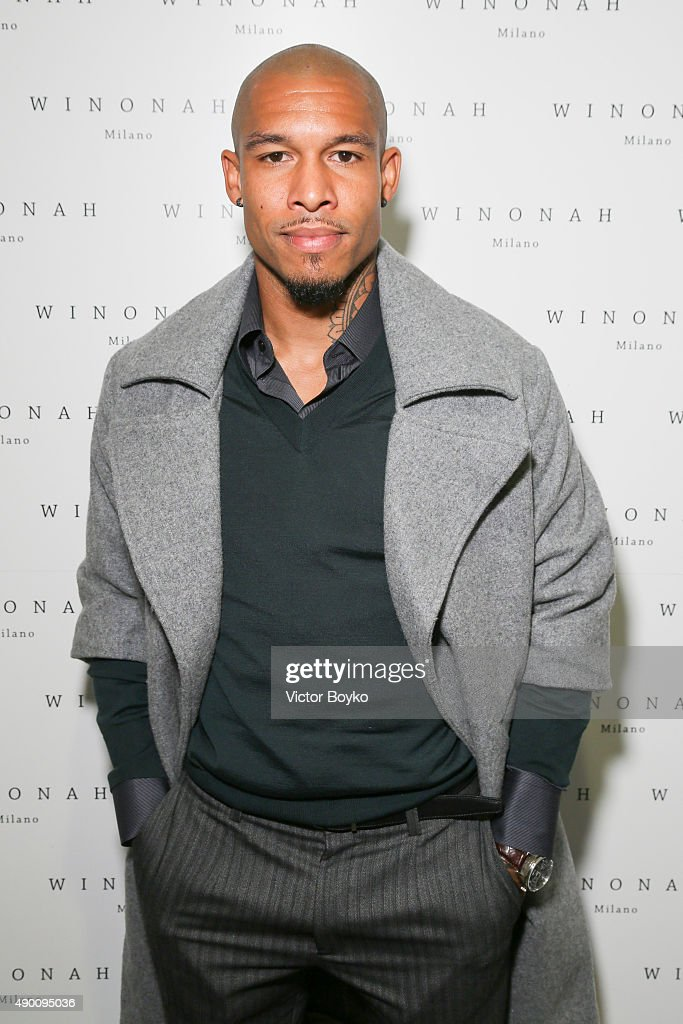 Nigel de Jong attends the Winonah cocktail party during the Milan Fashion Week Spring/Summer 2016 on September 25, 2015 in Milan, Italy.