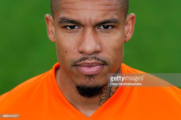 Nigel De Jong of the Netherlands poses prior to the Netherlands training session held at the AFAS Stadion on June 3 2014 in Alkmaar Netherlands