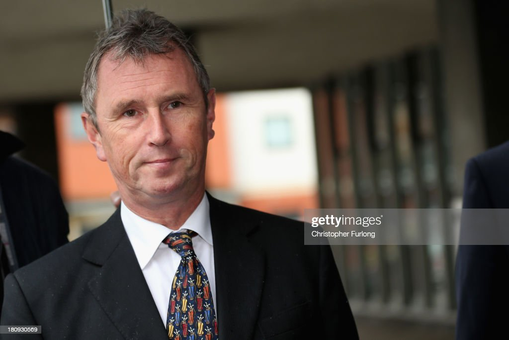 <a gi-track='captionPersonalityLinkClicked' href=/galleries/search?phrase=Nigel+Evans&family=editorial&specificpeople=2486752 ng-click='$event.stopPropagation()'>Nigel Evans</a> MP arrives at Preston Magistrate Court to face charges of sexual assault on September 18, 2013 in Preston, Lancashire. Mr Evans has resigned from his position as the House of Commons deputy speaker. The MP for Ribble Valley has been charged with two counts of indecent assault, five of sexual assault, and one of rape against seven alleged male victims.