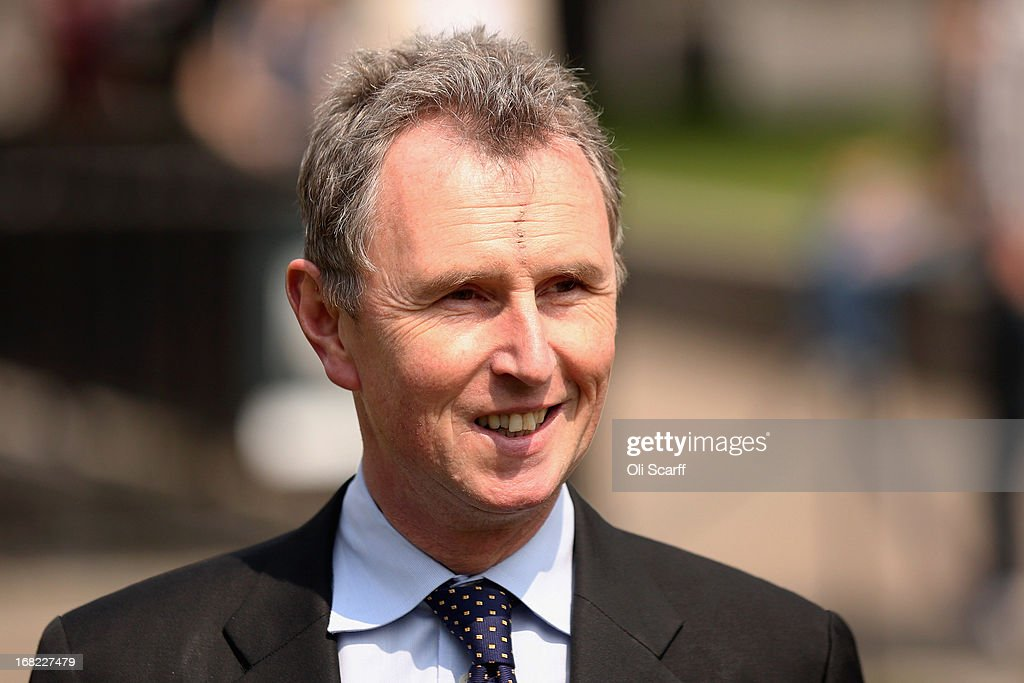 <a gi-track='captionPersonalityLinkClicked' href=/galleries/search?phrase=Nigel+Evans&family=editorial&specificpeople=2486752 ng-click='$event.stopPropagation()'>Nigel Evans</a>, the Deputy Commons Speaker who was arrested at the weekend over rape and sexual assault allegations, prepares to address the media in front of the Houses of Parliament on May 7, 2013 in London, England. Mr Evans, the Conservative MP for Ribble Valley in Lancashire, has been questioned about alleged attacks on two men, something which he strenuously denies.