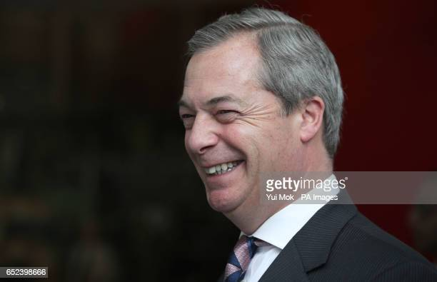 Nigel Farage arrives at BBC Broadcasting House in London ahead of appearing on the Sunday Politics show with Andrew Neil
