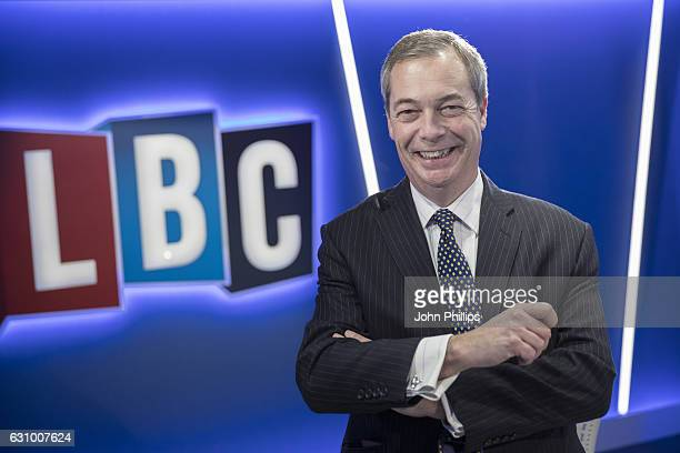 Nigel Farage joins LBC where he will present his own nightly show 'The Nigel Farage Show' which starts on January 9th 2017 at LBC Studio on January 5...