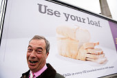 Nigel Farage poses for a photograph as he unveils a new UKIP campaign poster for European Elections on May 11 2014 in London England David Cameron...