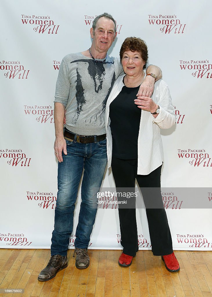 Nigel Gore and Tina Packer attend Tina Packer's 'Women of Will' cast photo call at The Gym at Judson on January 16, 2013 in New York City.