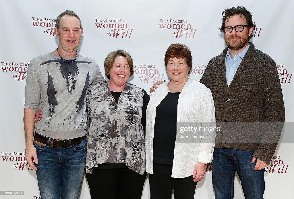 Nigel Gore, Sarah Hancock, Tina Packer and Eric Tucker attend Tina Packer's 'Women of Will' cast photo call at The Gym at Judson on January 16, 2013 in New York City.