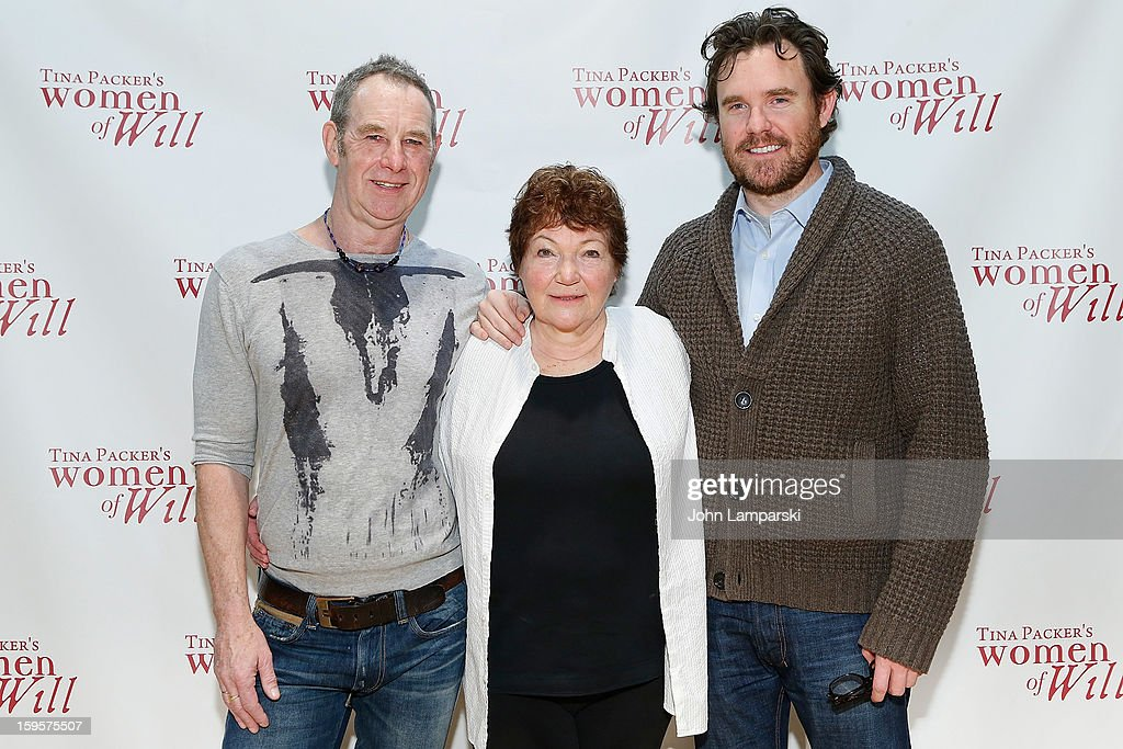 Nigel Gore, Tina Packer and Eric Tucker attend Tina Packer's 'Women of Will' cast photo call at The Gym at Judson on January 16, 2013 in New York City.