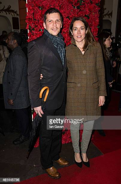 Nigel Harman and Lucy Liemann attend the press night of 'Women on the Verge of a Nervous Breakdown' at Playhouse Theatre on January 12 2015 in London...
