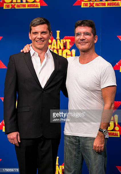 Nigel Harman and Simon Cowell attends a photocall to launch 'I Can't Sing The X Factor Musical' at RADA on September 2 2013 in London England
