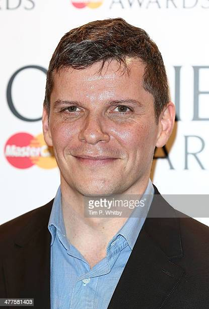Nigel Harman attends as The Laurence Olivier Awards nominees are announced at Rosewood London on March 10 2014 in London England