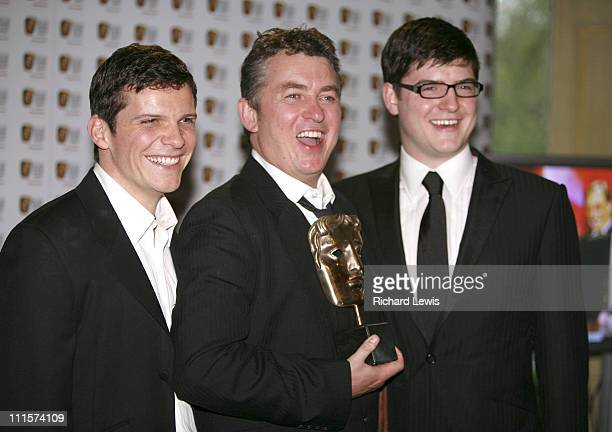 Nigel Harman Shane Ritchie and James Alexandrou during The 2006 British Academy Television Awards Press Room at Grosvenor House in London Great...
