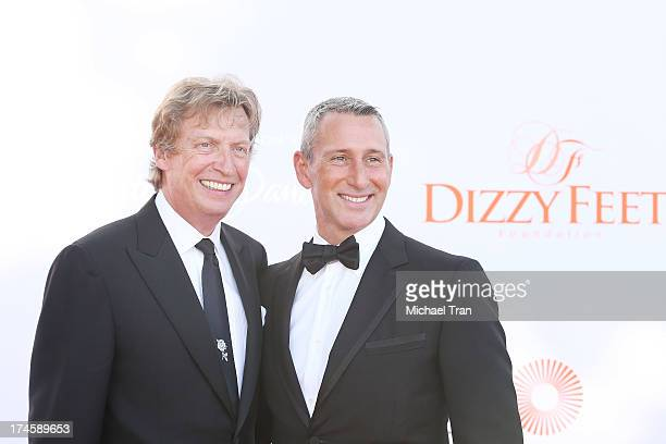 Nigel Lythgoe and Adam Shankman arrive at the Dizzy Feet Foundation's 3rd Annual Celebration of Dance Gala held at Dorothy Chandler Pavilion on July...