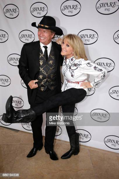 Nigel Lythgoe and Bonnie Lythgoe pose for a photo before the 64th Annual Boomtown 2017 Gala 'Let's Dance' at The Beverly Hilton Hotel on May 20 2017...